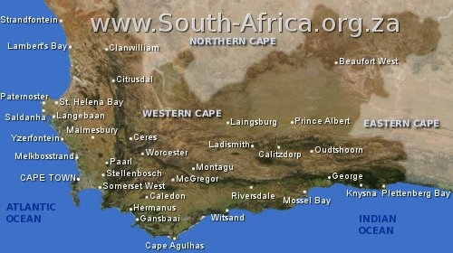 map western cape south africa
